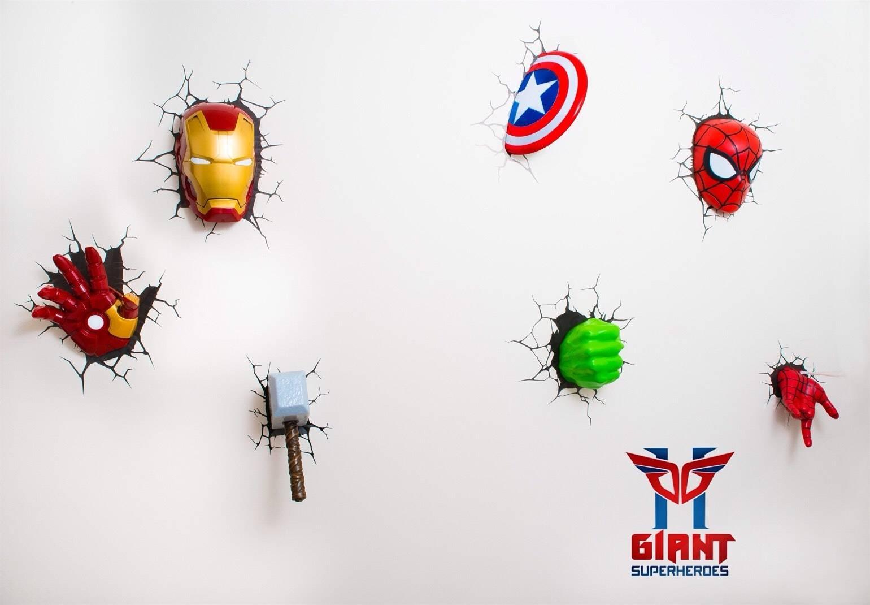 Beautiful 3D Wall Art Nightlight Iron Man Hand Amazoncom D Light With Regard To Most Recently Released 3D Wall Art Iron Man Night Light (View 7 of 20)