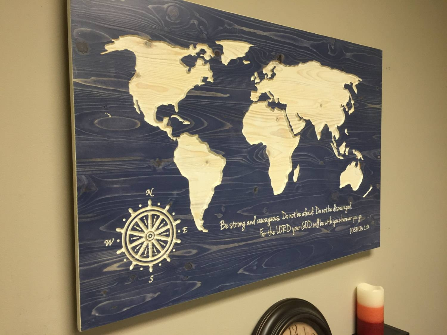 Top 20 of World Map Wood Wall Art
