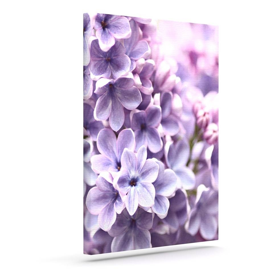 Beautiful Purple Flower Canvas Art Piece Canvas Wall Art Design Throughout 2018 Flower Wall Art Canvas (View 4 of 20)