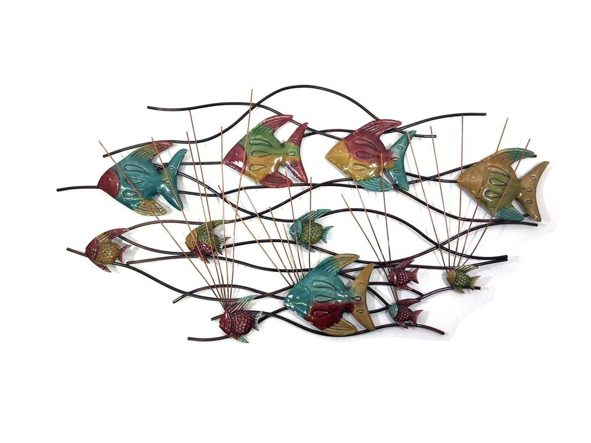 Featured Photo of Shoal of Fish Metal Wall Art