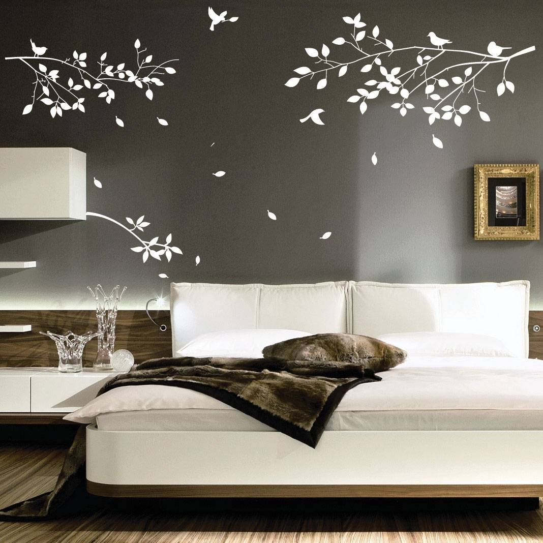 Bedroom : Astonishing Cool Trendy Design Decor White Tree Wall Art With Regard To Most Recently Released Bed Wall Art (View 2 of 25)