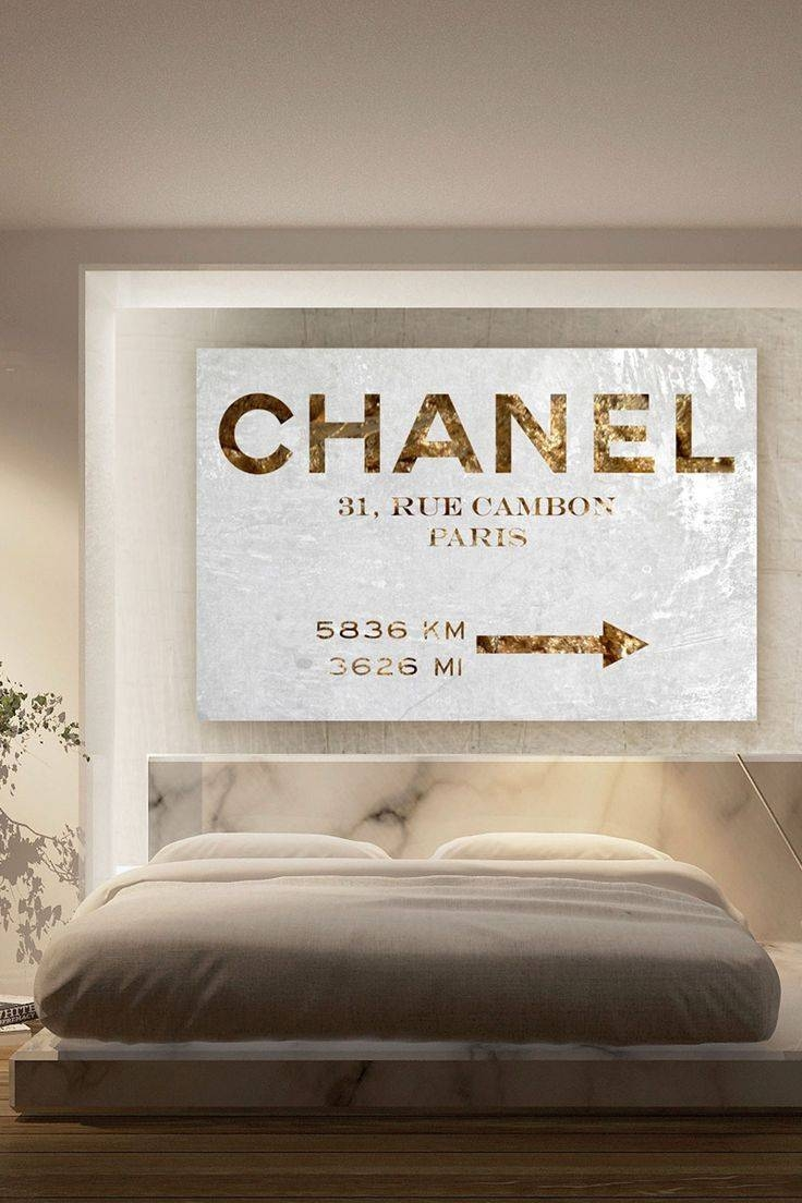 Bedroom: Chanel Art Chanel Decor (View 5 of 25)
