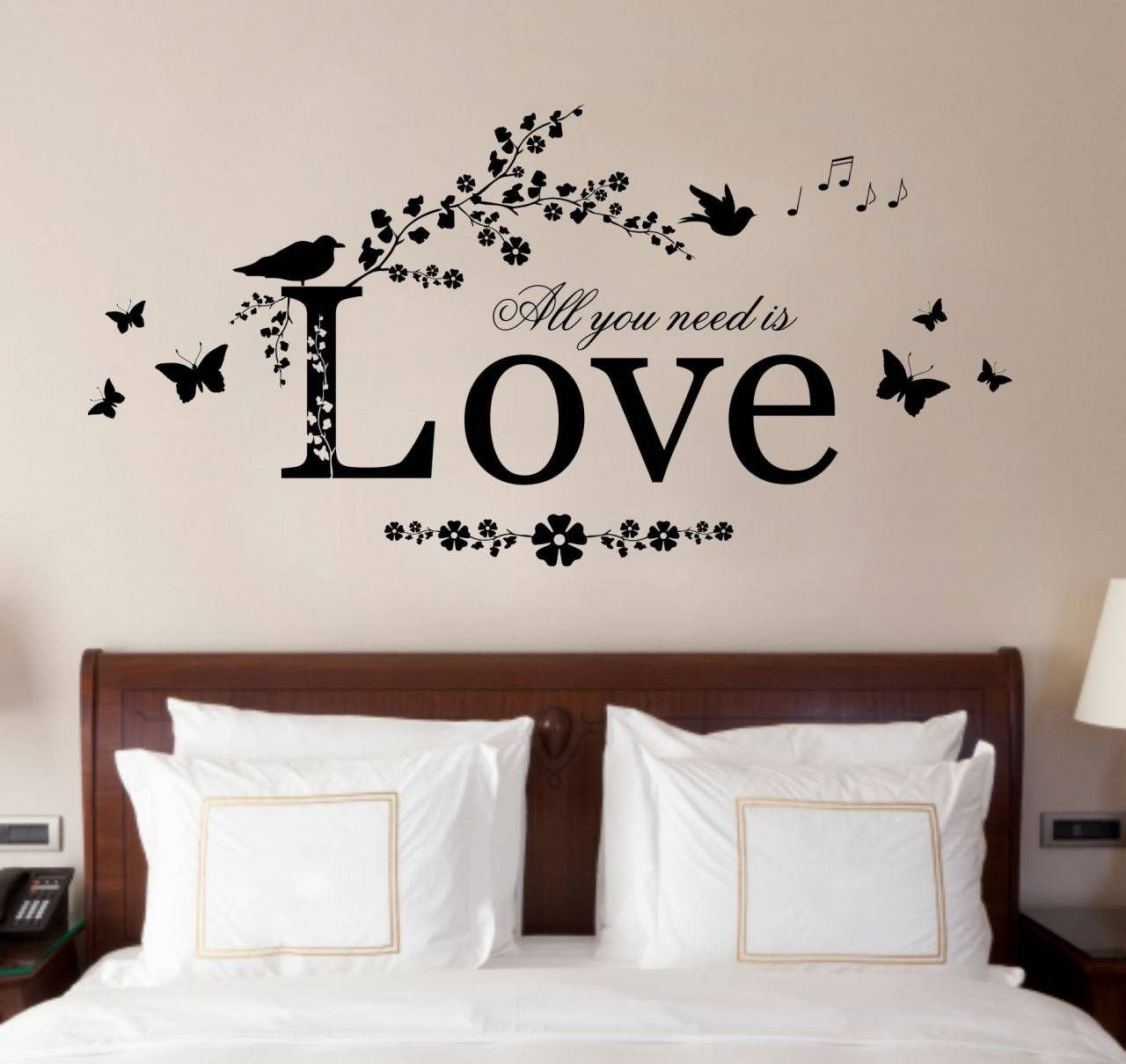 Bedroom : Dazzling Creative Bedroom Wall Decor Ideas Perfect Wall Pertaining To Most Recently Released Wall Art Deco Decals (View 3 of 20)