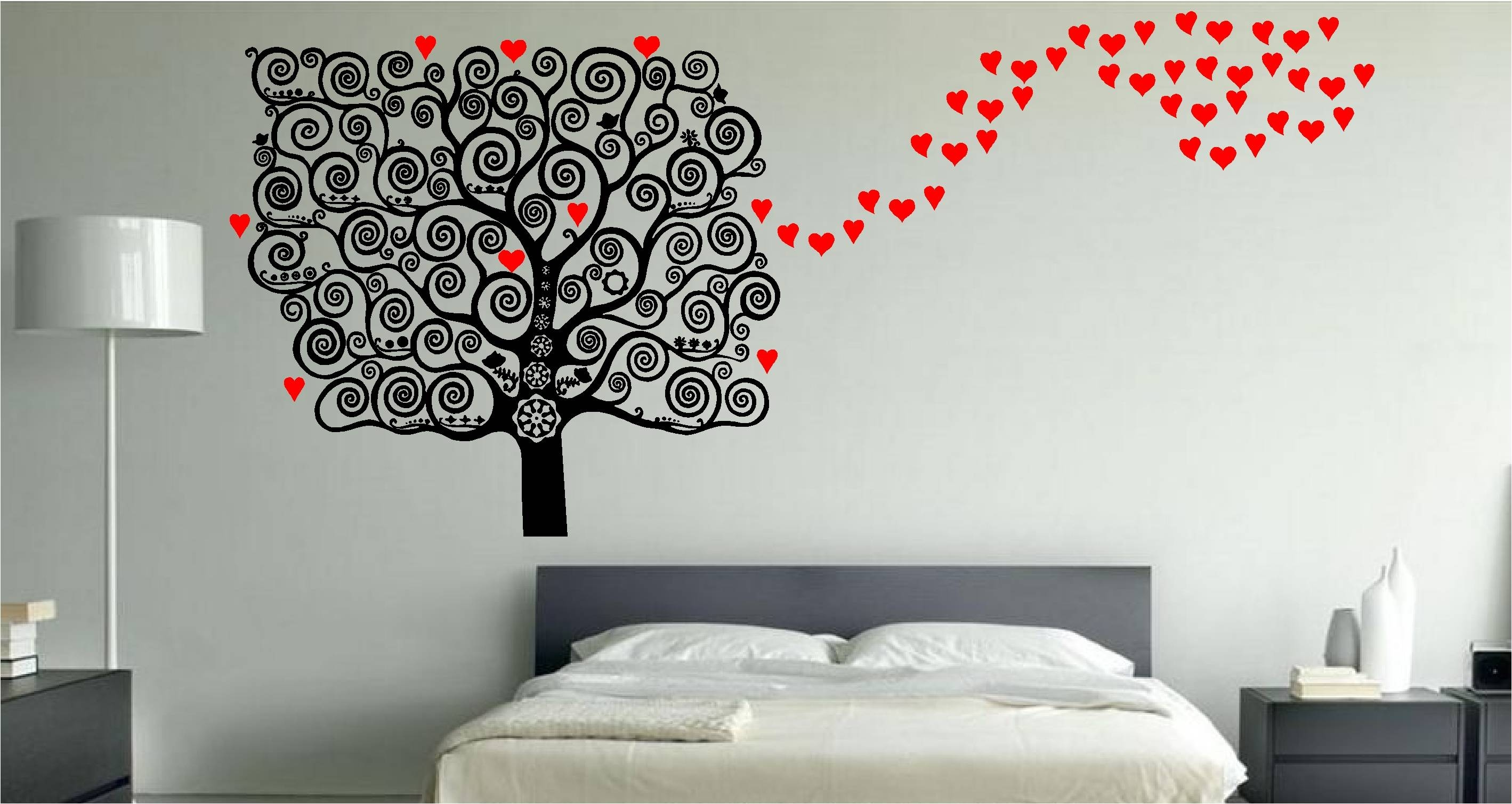 Bedroom Design : Magnificent Tree Wall Stickers Wall Stickers For Regarding Current 3D Wall Art For Bedrooms (View 13 of 20)