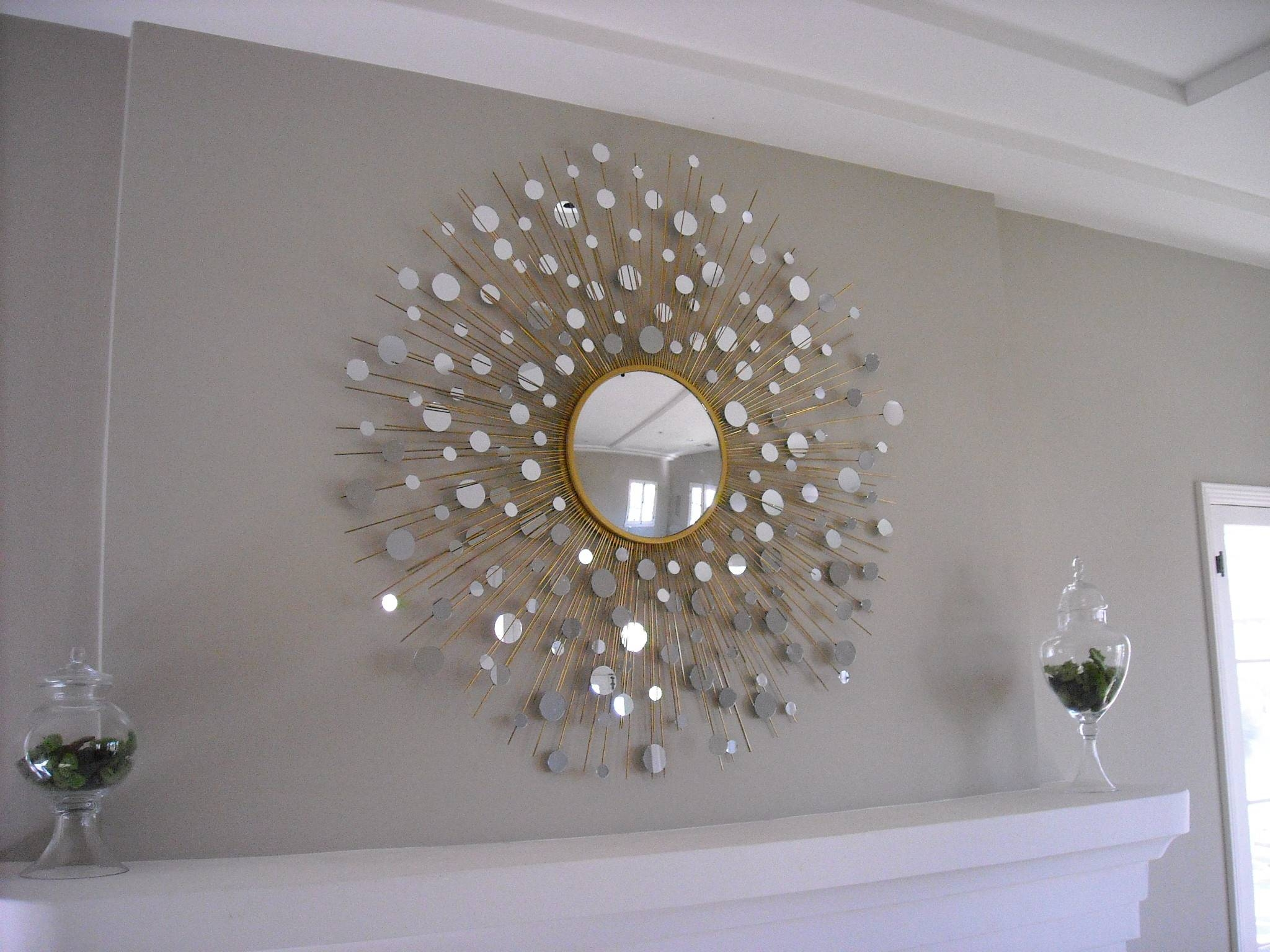 Bedroom : Engaging In Search Of — Starburst Mirrors ~ Krrb Blog Pertaining To Most Current Diy Mirror Wall Art (View 3 of 20)
