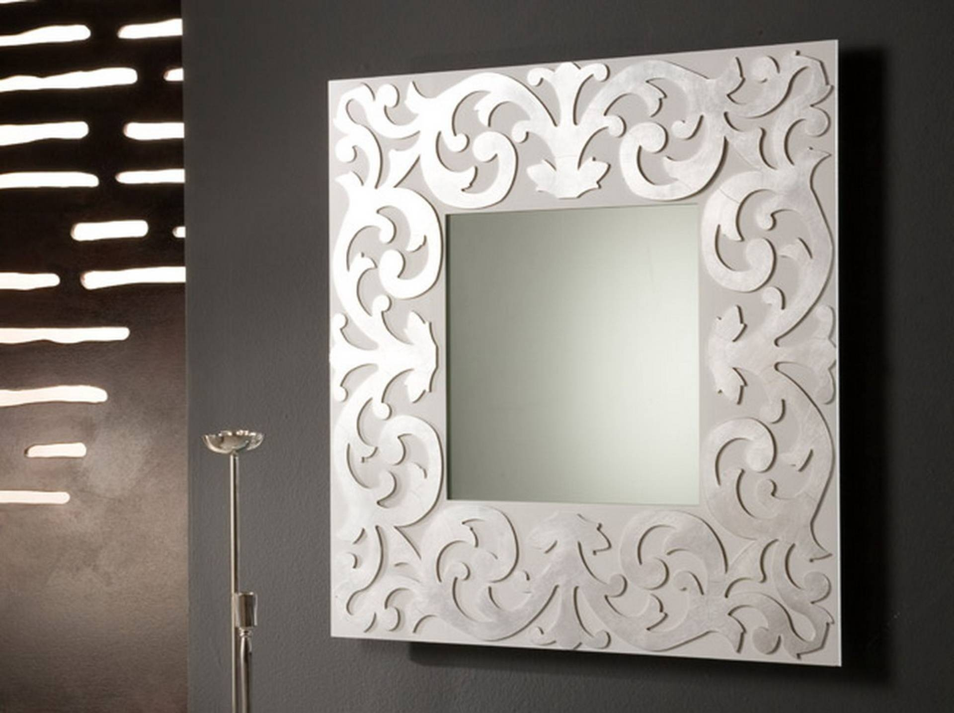 Bedroom : Fancy Wall Mirror Interior Decoration For Home Interior In Newest Mirrors Modern Wall Art (View 1 of 20)