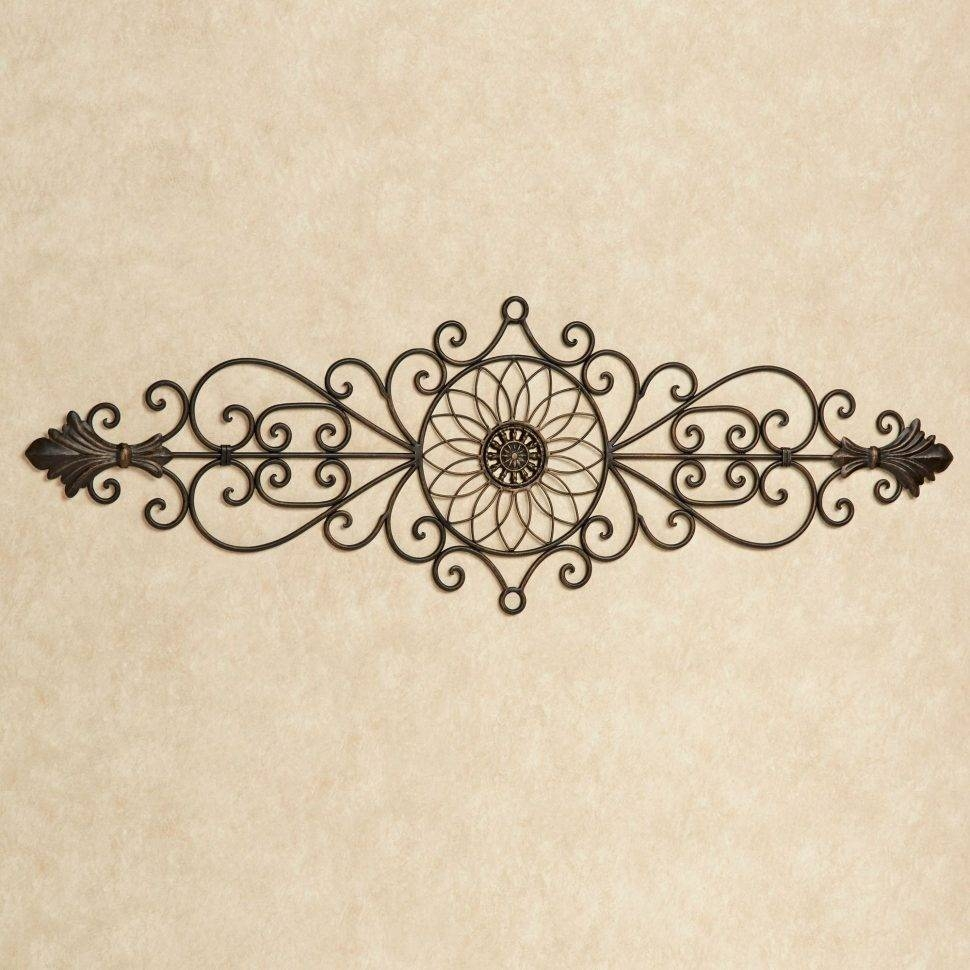 Bedroom : Iron Wall Hangings Wall Plate Outdoor Wall Hangings With Recent Wrought Iron Garden Wall Art (View 24 of 25)