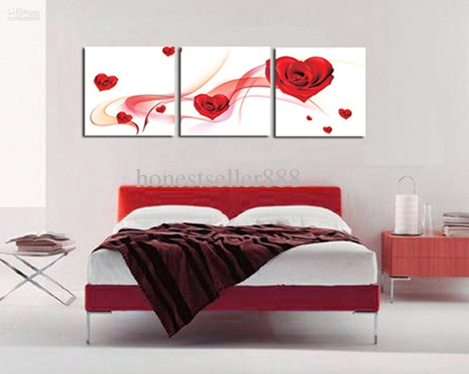 Bedroom : Kitchen Wall Decor Ideas Art Wall Inexpensive Wall Art Pertaining To 2018 Red And Turquoise Wall Art (View 6 of 20)