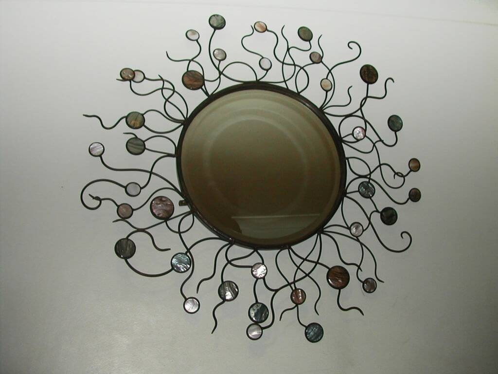 Bedroom : Lovely Round Wall Mirror Art Deco Round Mirror With Pertaining To Best And Newest Mirror Circles Wall Art (View 4 of 20)