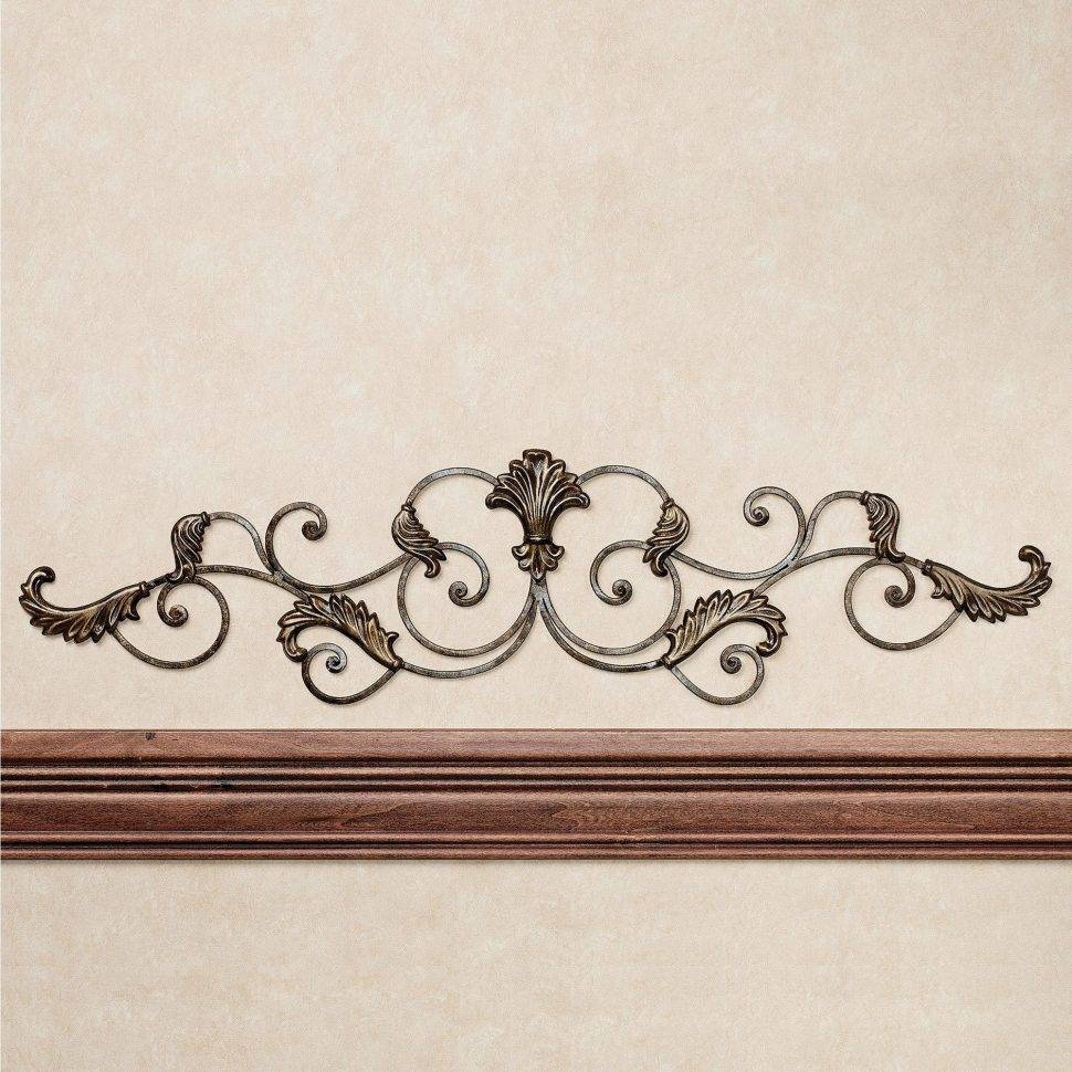 Bedroom : Scroll Wall Decor Wrought Iron Wall Decor Silver Metal With  Current Italian Metal Wall