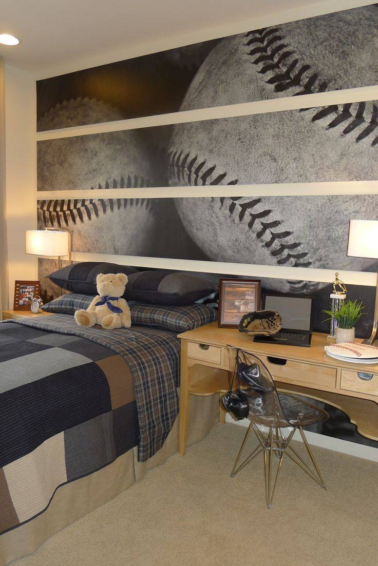 Bedroom Sports Decorating Ideas | Baseball Wallpaper – Unique With Regard To 2017 Baseball 3D Wall Art (View 11 of 20)