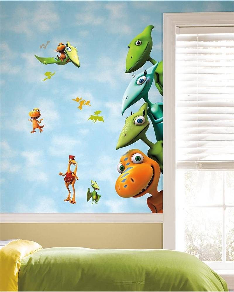Bedrooms : Kids Bedroom With 3d Dinosaur Wall Art Near Small Desk In Current 3d Dinosaur Wall Art Decor (View 15 of 20)