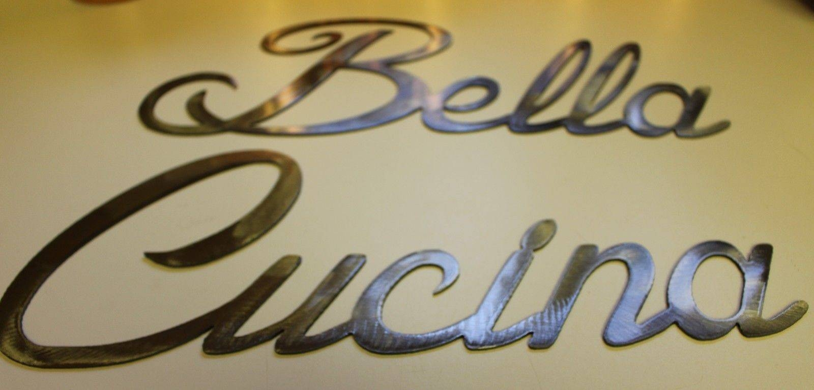 Bella Cucina Words Large Set Metal Wall Art Accents Silver Words For Most Current Cucina Wall Art (View 18 of 30)