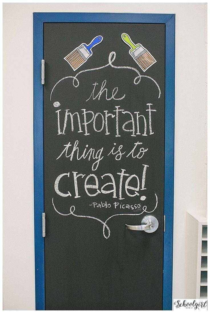 Best 25+ Art Classroom Door Ideas On Pinterest | Class Door Pertaining To Newest Classroom Vinyl Wall Art (View 5 of 30)
