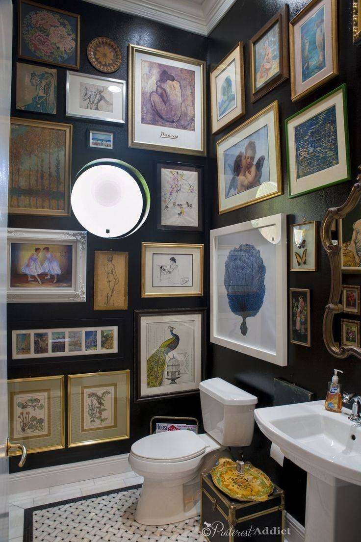 Best 25+ Bathroom Artwork Ideas On Pinterest | Bathroom Prints Pertaining To Recent Black And White Damask Wall Art (View 25 of 30)