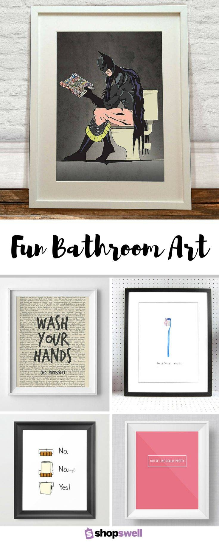 Best 25+ Bathroom Wall Art Ideas On Pinterest | Bathroom Prints Regarding Current Bathroom Wall Hangings (View 8 of 20)