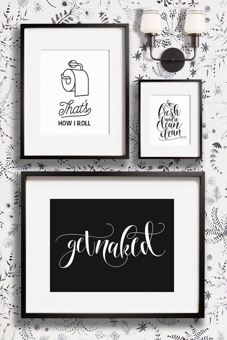 Best 25+ Bathroom Wall Art Ideas On Pinterest | Bathroom Prints With Regard To 2017 Bathroom Wall Hangings (View 9 of 20)