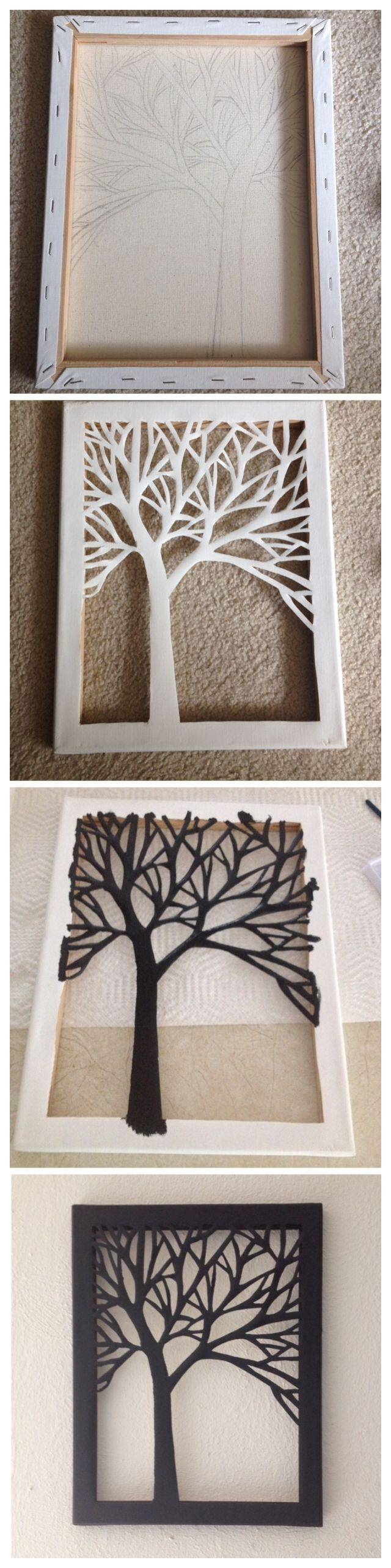 Best 25+ Canvas Art Ideas On Pinterest | Diy Canvas Art, Tree Intended For Most Popular Diy Pinterest Canvas Art (View 19 of 25)