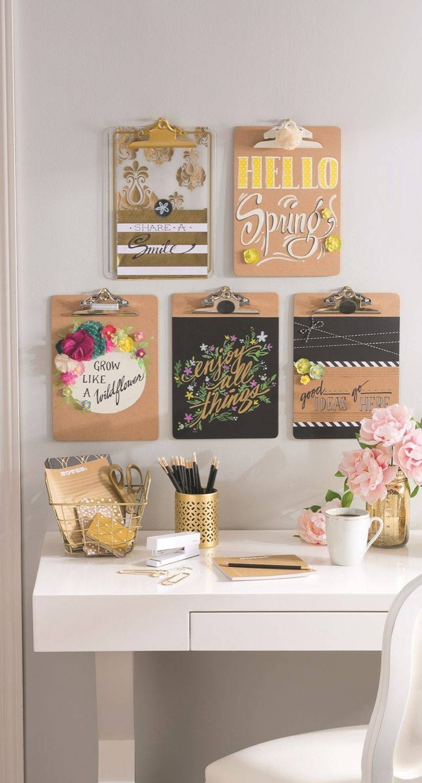 Best 25+ Clipboard Wall Ideas On Pinterest | Bureau Ikea, Ikea With Regard To Best And Newest Pinterest Wall Art Decor (View 11 of 25)