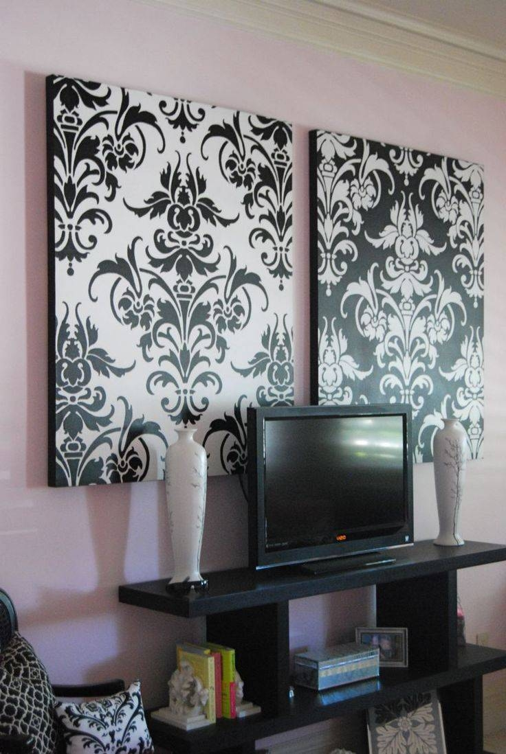 30 photos black and white damask wall art. Black Bedroom Furniture Sets. Home Design Ideas
