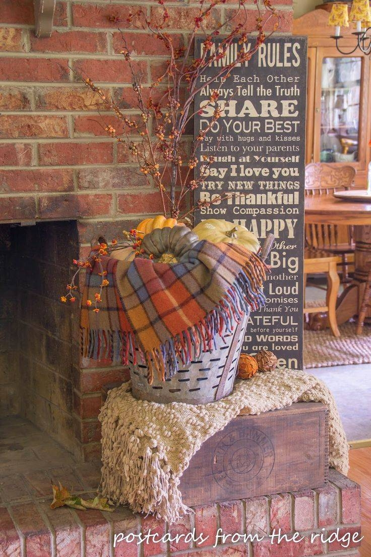 Best 25+ Fall Fireplace Decor Ideas On Pinterest | Fall Fireplace Pertaining To Most Up To Date Autumn  Inspired Wall Art (View 16 of 25)