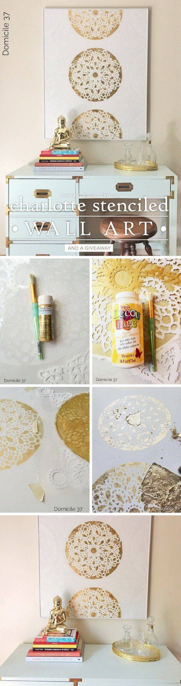 15 Best And Easy Diy Wall Art : The best silver and gold wall art