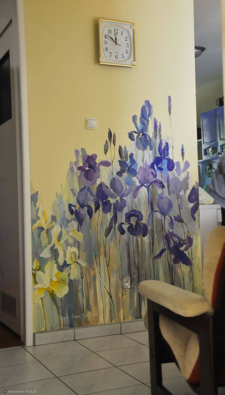 Best 25+ Hand Painted Walls Ideas On Pinterest   Wall Painting Pertaining To 2018 Floral & Plant Wall Art (View 12 of 25)