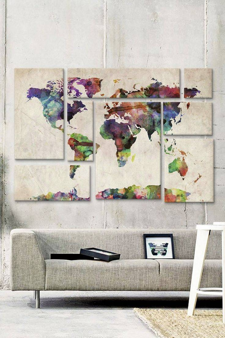 Best 25+ Map Wall Art Ideas On Pinterest | World Map Wall, World Within Newest Maps For Wall Art (View 3 of 20)