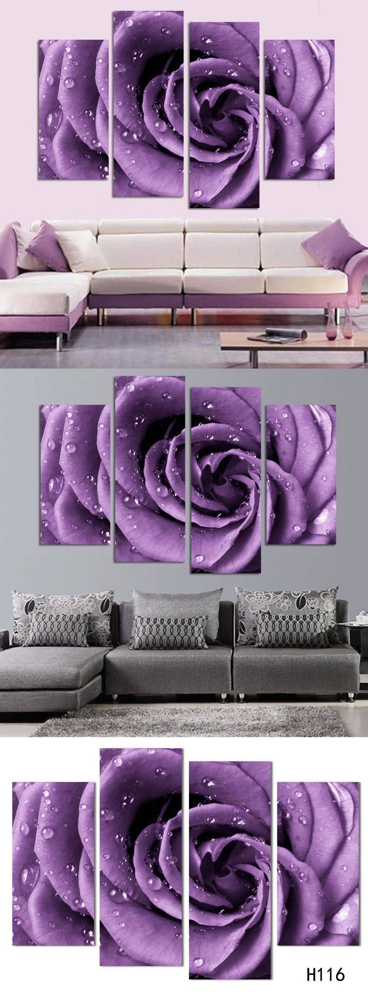 Best 25+ Purple Bedroom Walls Ideas On Pinterest | Purple Accent Pertaining To 2017 Matching Canvas Wall Art (View 18 of 20)