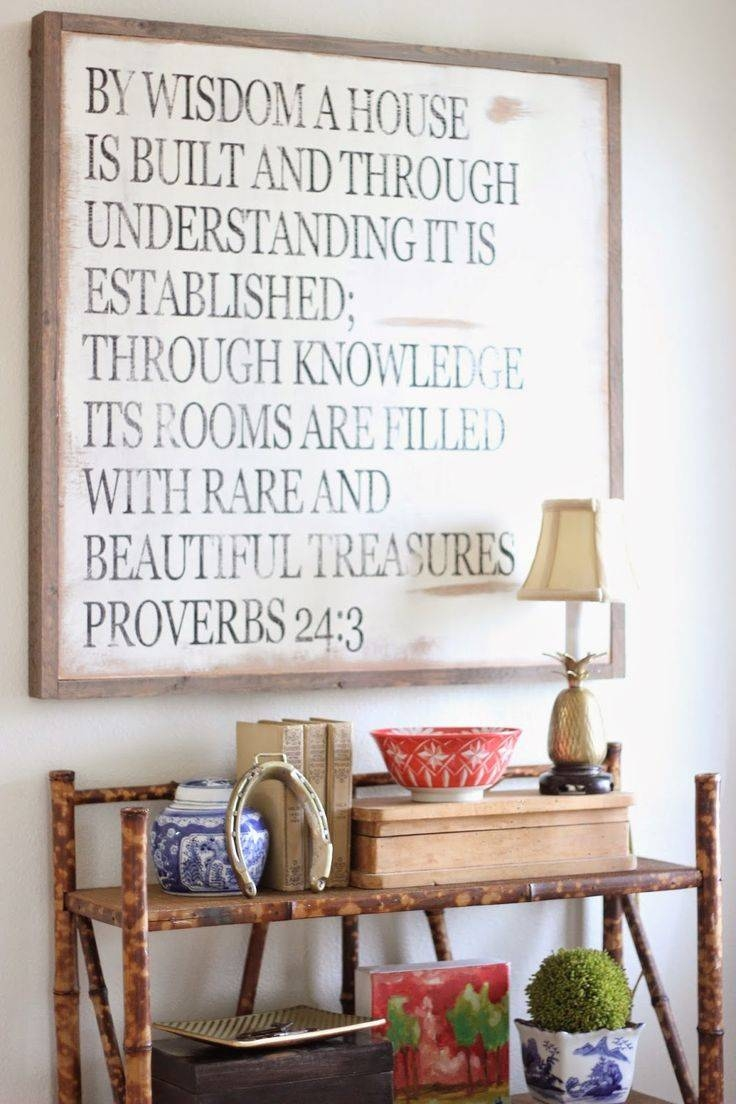 Best 25+ Scripture Wall Art Ideas On Pinterest | Bible Verse Signs Intended For Most Up To Date Bible Verses Wall Art (Gallery 7 of 30)