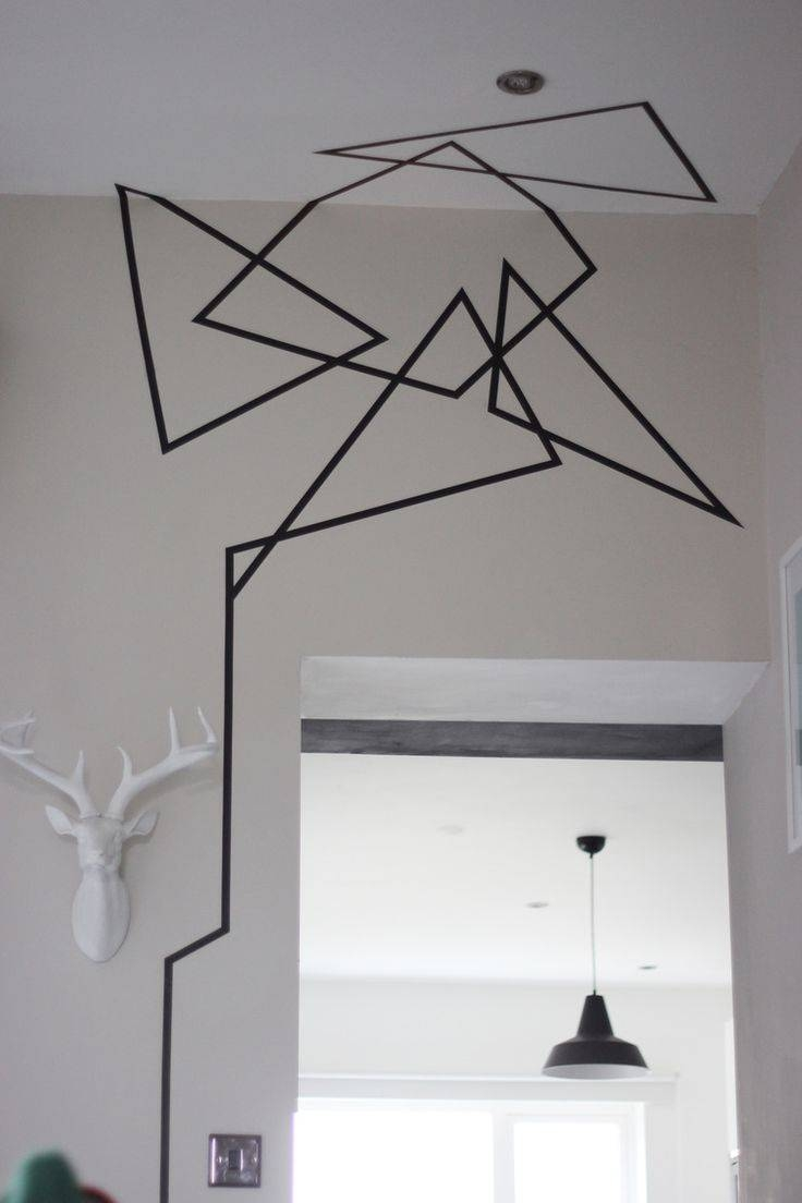 Best 25+ Tape Wall Art Ideas On Pinterest | Tape Wall, Hanging In Most Recent Space 3D Vinyl Wall Art (View 6 of 20)