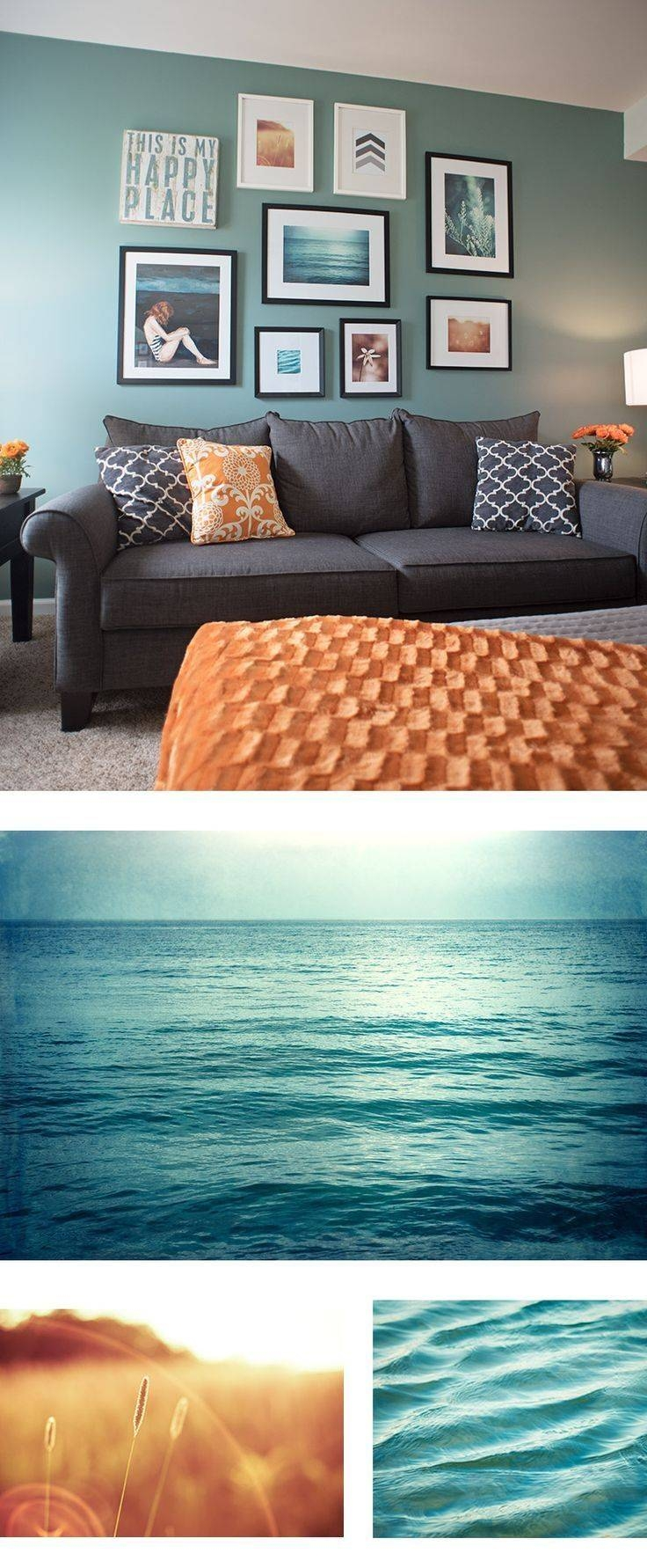 Best 25+ Teal Wall Art Ideas On Pinterest | Turquoise, Light Teal Pertaining To Latest Orange And Turquoise Wall Art (View 3 of 20)