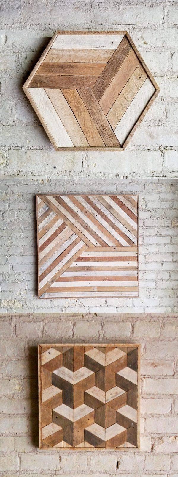 Best 25+ Wood Wall Art Ideas On Pinterest | Wood Art, Geometric In 2017 Wood Wall Art (View 4 of 25)