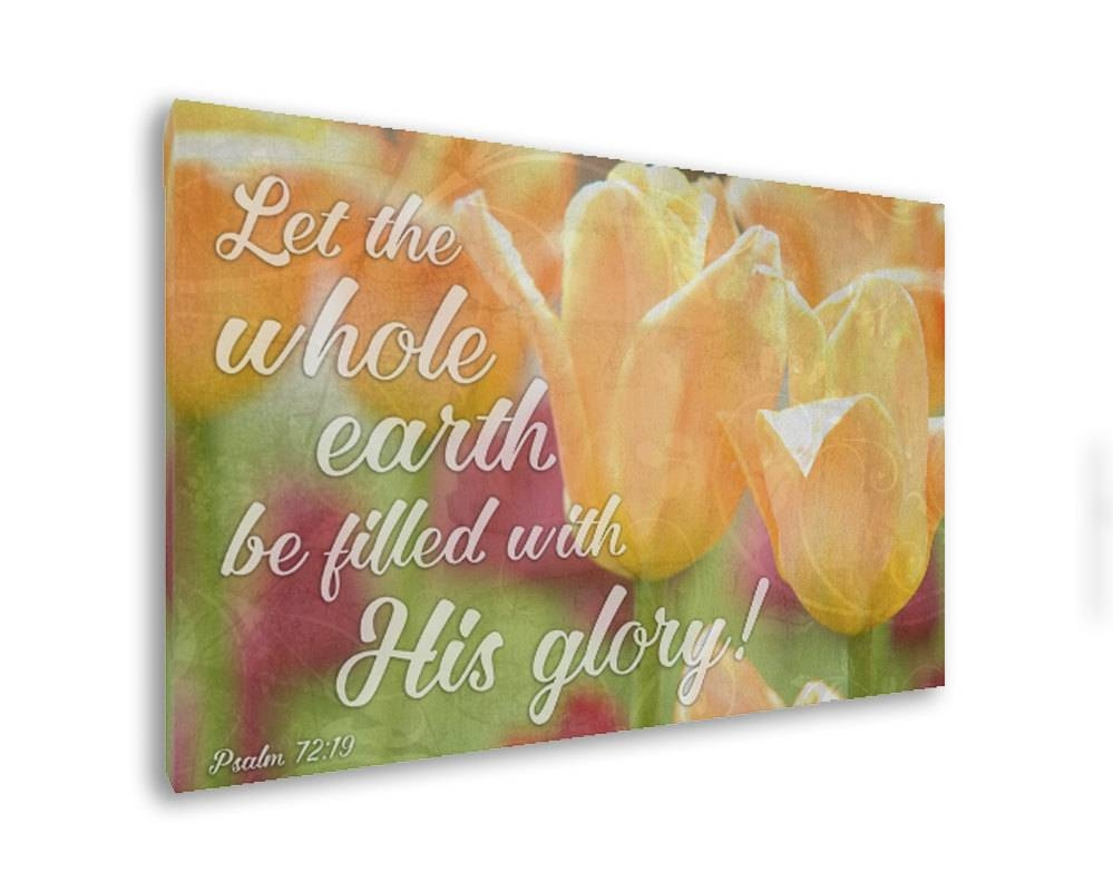 Bible Verse On Canvas Christian Wall Art Christian Canvas With Most Recently Released Christian Canvas Wall Art (View 9 of 20)