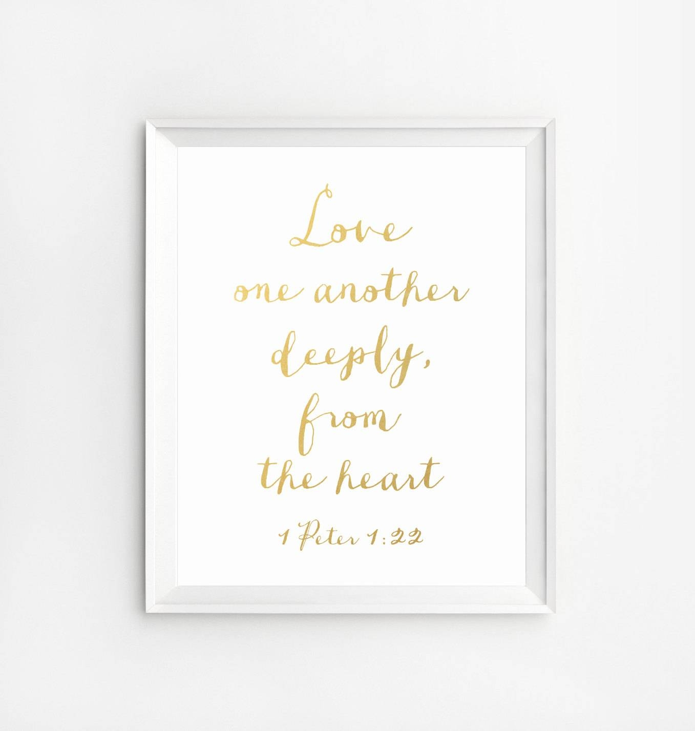 Bible Verse Wall Art Decor Scripture Print Gold Gold Foil Inside Latest Bible Verses Wall Art (Gallery 11 of 30)