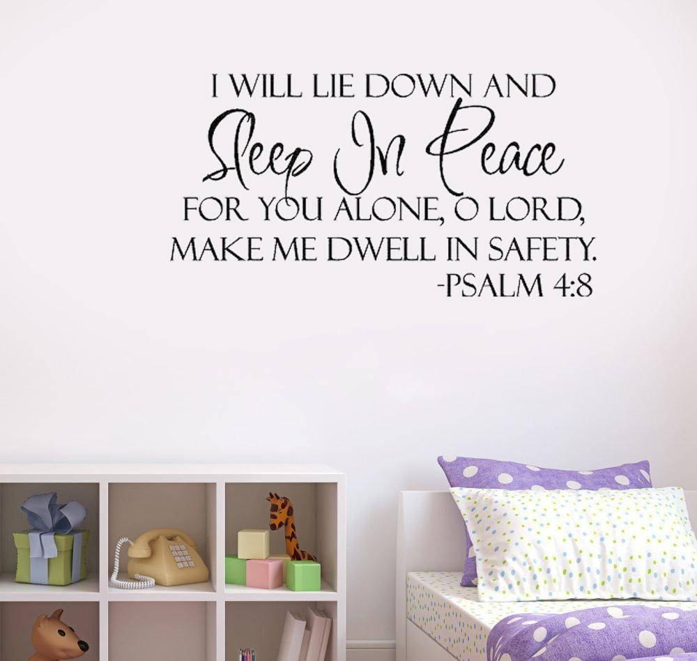 Bible Verse Wall Art Ideas Also Qoute For Bedroom Frame Pictures Intended For Recent Bible Verses Wall Art (Gallery 3 of 30)
