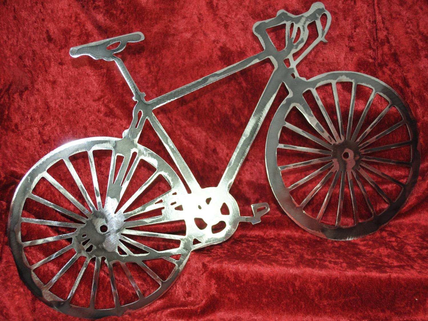 Bicycle Bicycle Enthusiast Gift Bicycle Metal Wall Art In Most Recent Metal Bicycle Art (View 20 of 20)