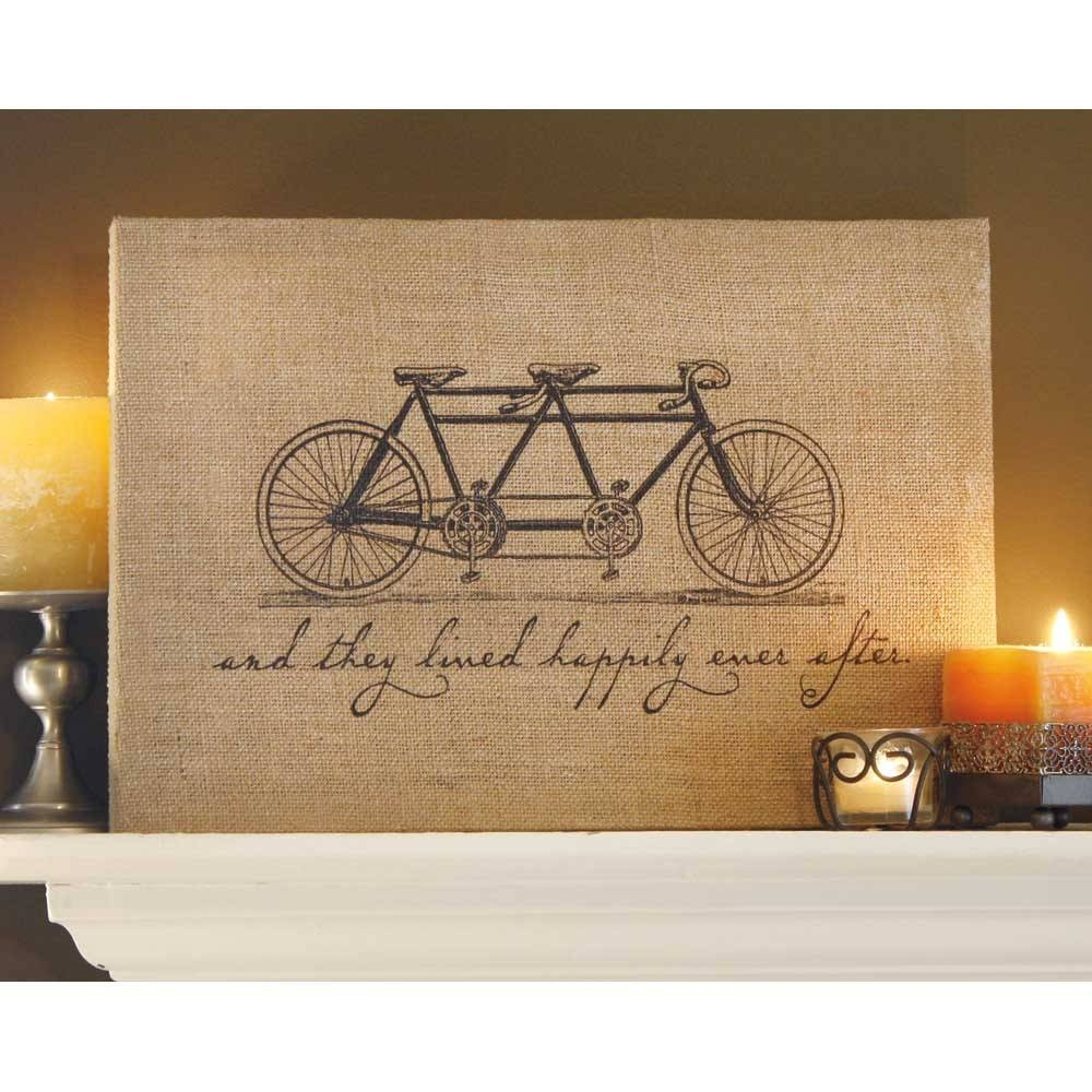 Bicycle Jute Wrapped Wall Art | Sturbridge Yankee Workshop Intended For Recent Cycling Wall Art (View 11 of 25)