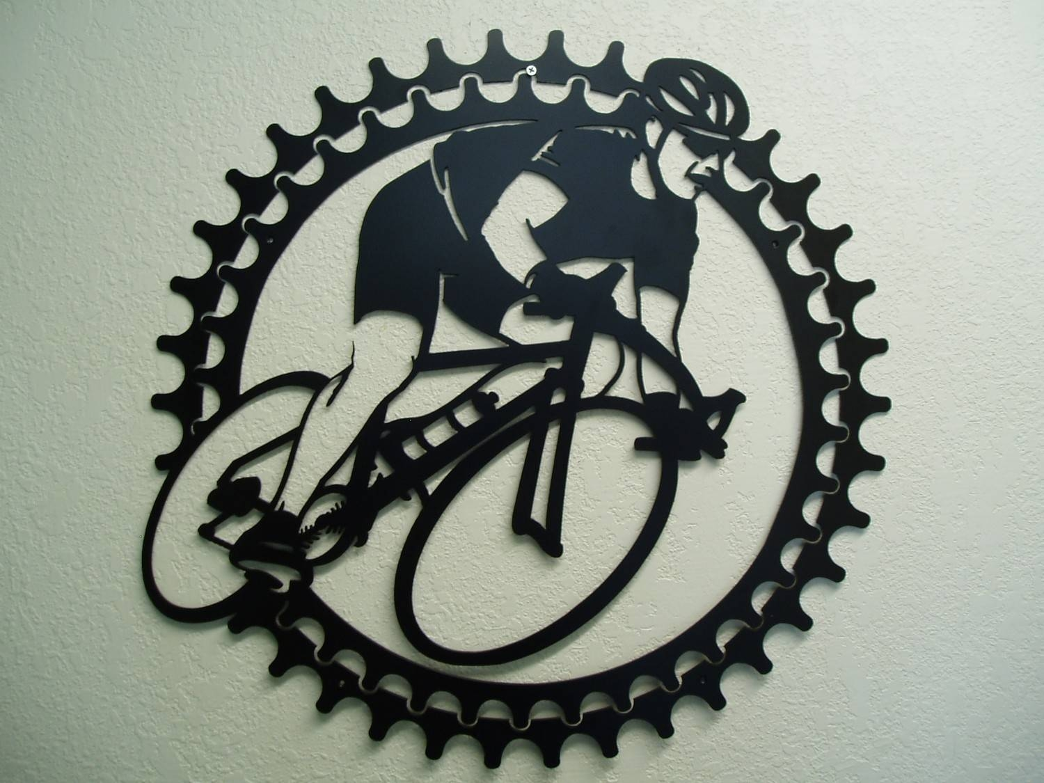 Bicycle Rider Metal Wall Art Within 2018 Cycling Wall Art (View 4 of 25)