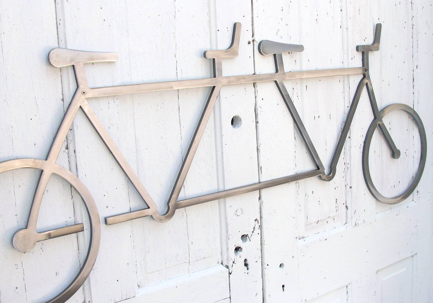 Bicycle Wall Art Decor Tandem Bike Wall Hanging Bike Decor Pertaining To Newest Metal Bicycle Wall Art (View 8 of 20)