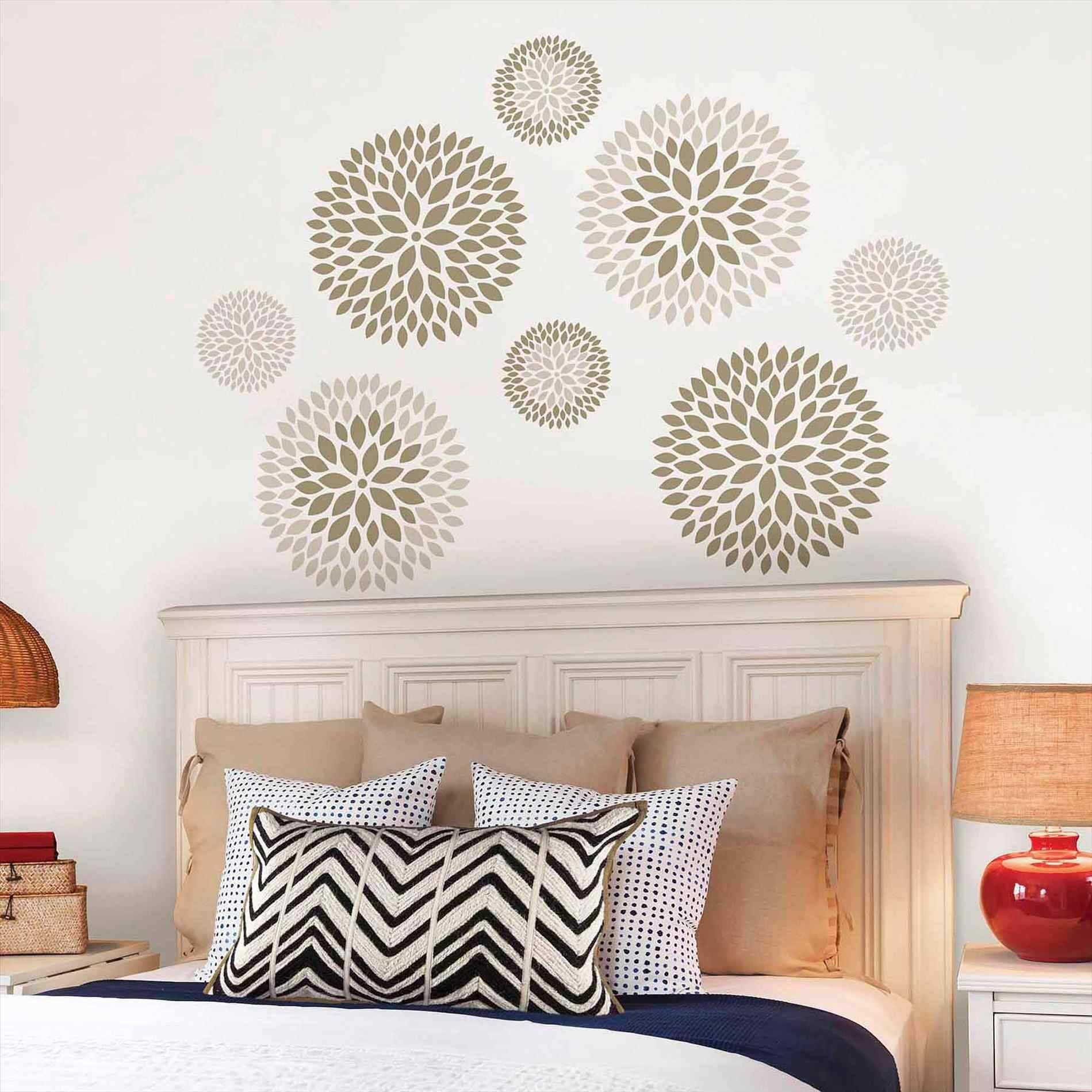 Big Damask Decals Wall Art Wall Decals For Bedroom Trends Also Pertaining To 2017 Art Nouveau Wall Decals (View 11 of 20)