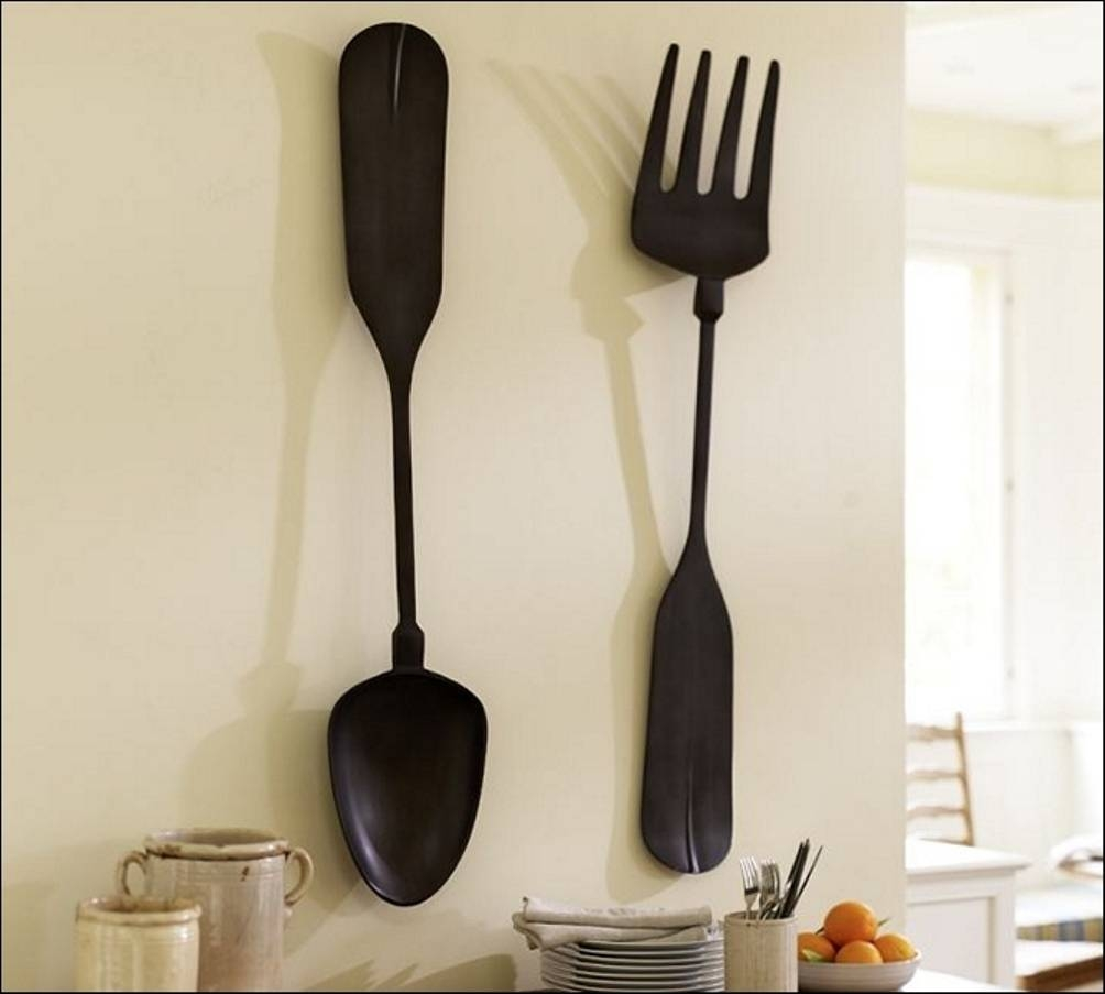Big Fork And Spoon Wall Decor Meaning : Giant Fork And Spoon Wall Pertaining To Most Current Big Spoon And Fork Wall Decor (View 4 of 30)