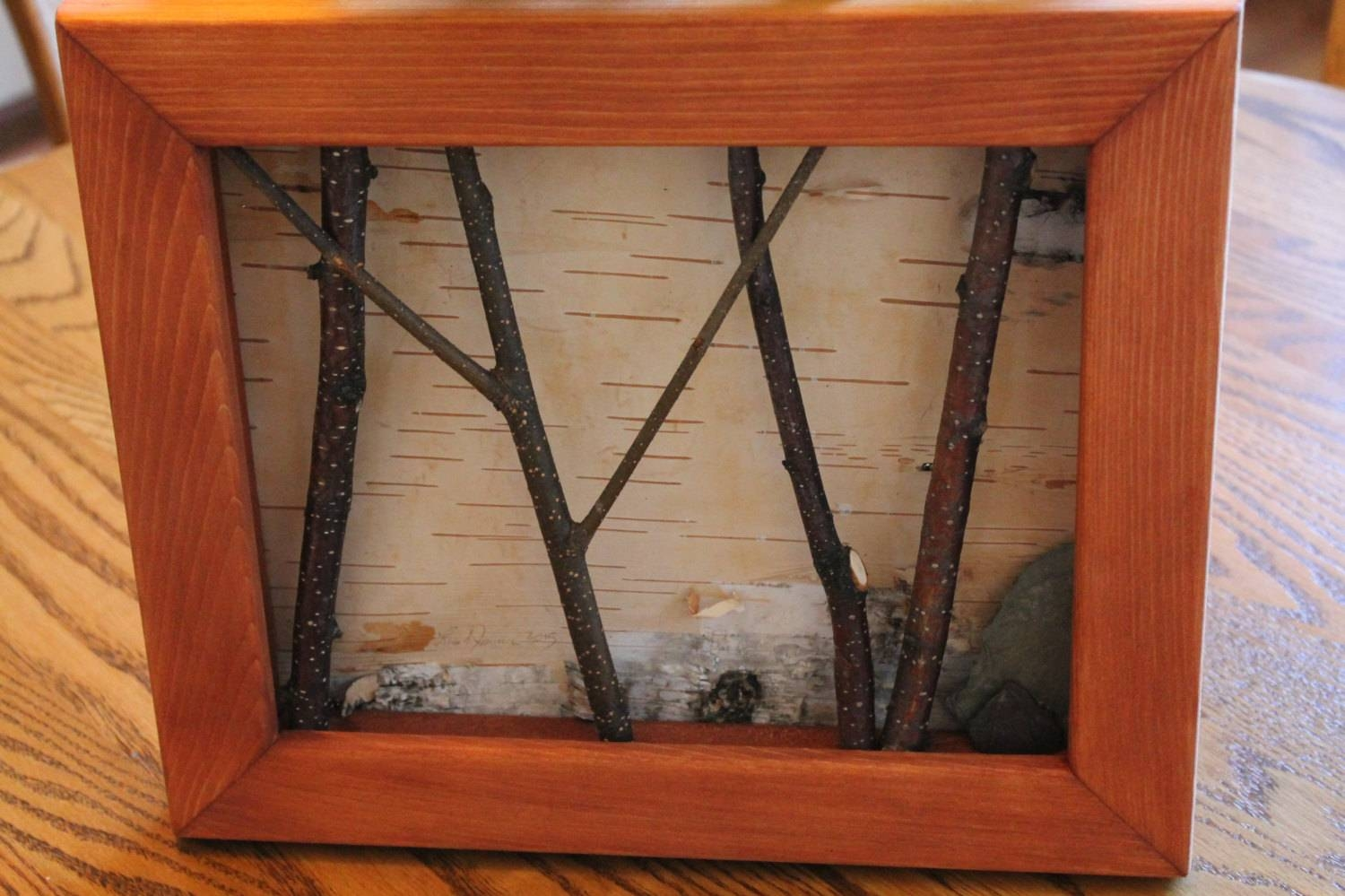 Birch Bark Framed Art Rustic Birch Twig Art White Birch With Most Recently Released Framed 3d Wall Art (View 8 of 20)