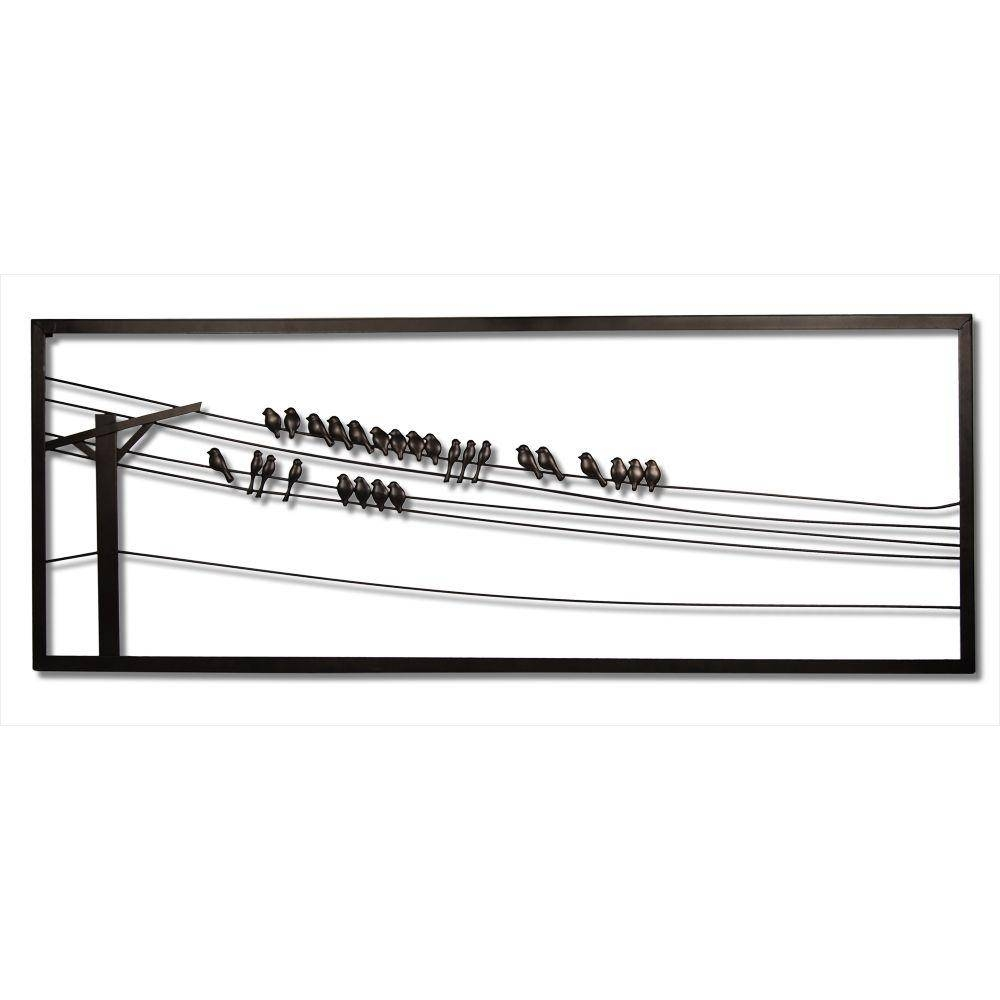 Birds On Wire 48 In. W X 1 In. D X 18 In (View 5 of 25)