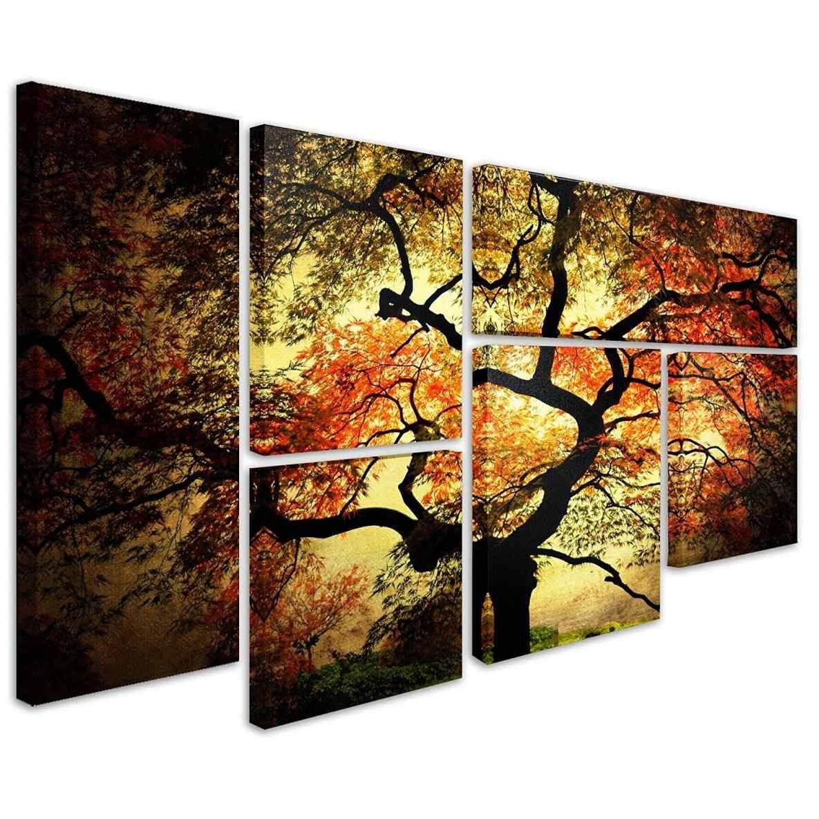 Birds Perchedflowers Set Wall Multiple Piece Canvas Wall Art Inside Most Popular Multiple Panel Wall Art (View 8 of 20)