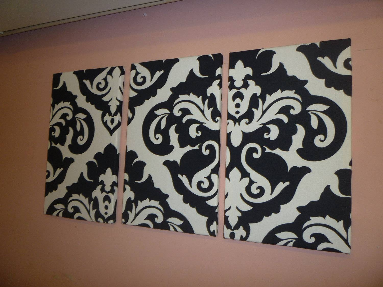 Featured Photo of Black And White Damask Wall Art