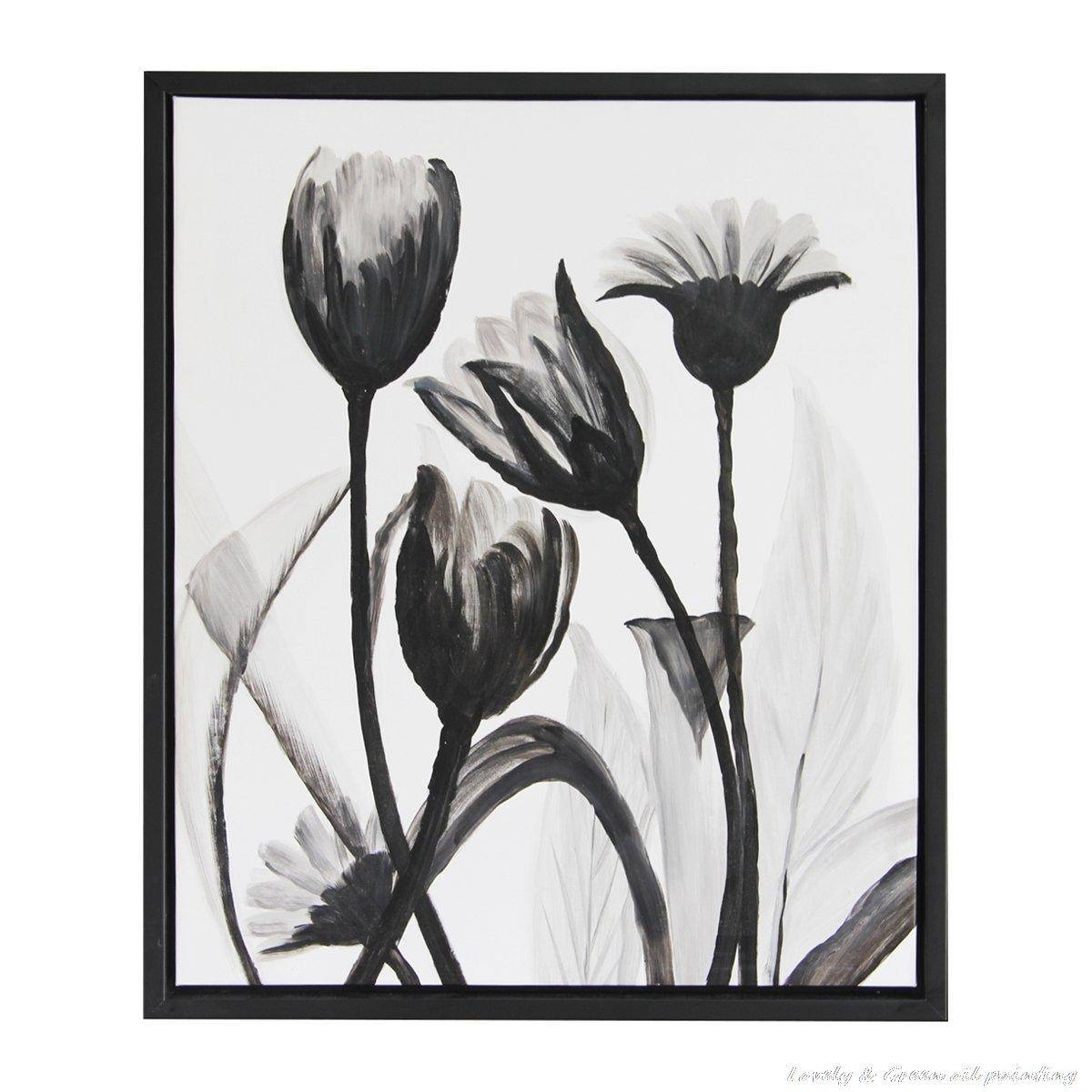 Black And White Flower Wall Art – Wall Murals Ideas Regarding Most Recent Cheap Black And White Wall Art (View 5 of 20)
