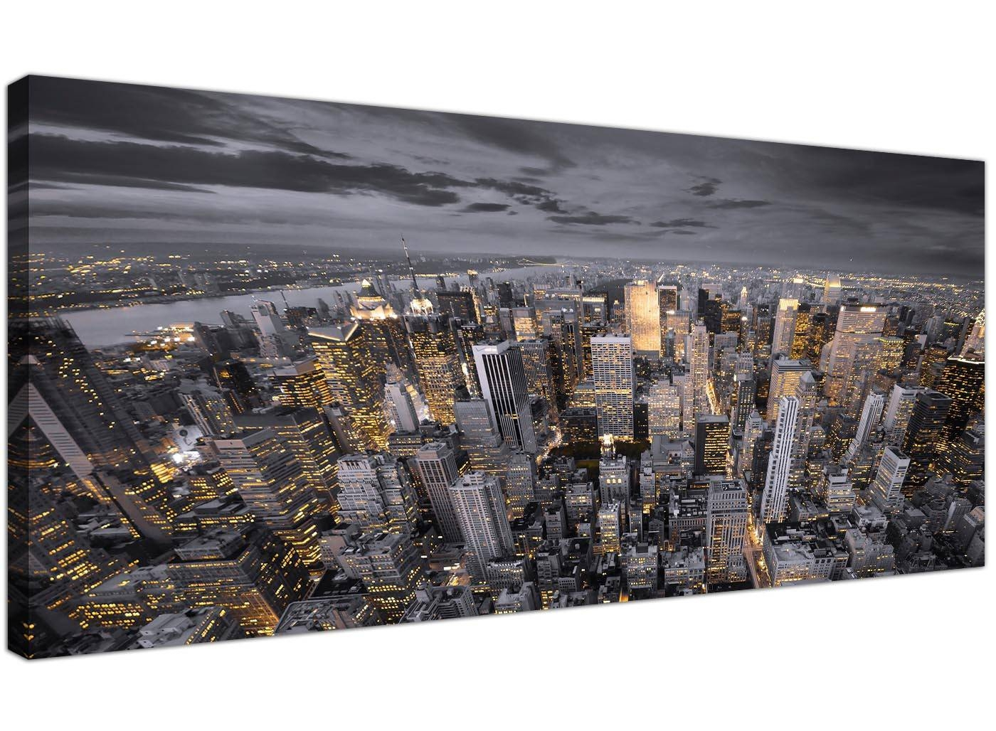Black And White New York Skyline – Canvas Modern – 120Cm Wide For 2018 New York Skyline Canvas Black And White Wall Art (View 3 of 20)
