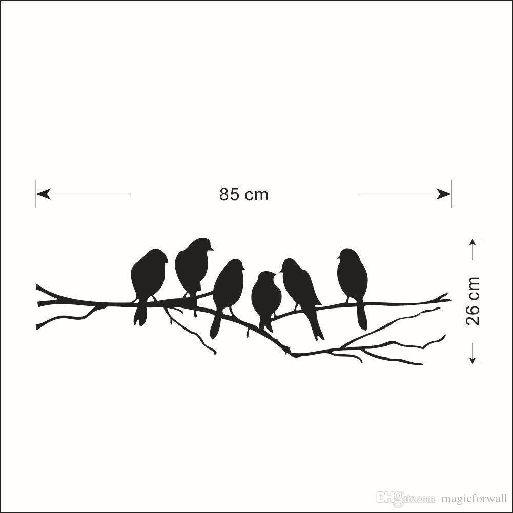 Black Bird Wall Decals – Wall Murals Ideas Pertaining To Best And Newest White Birds 3D Wall Art (View 7 of 20)