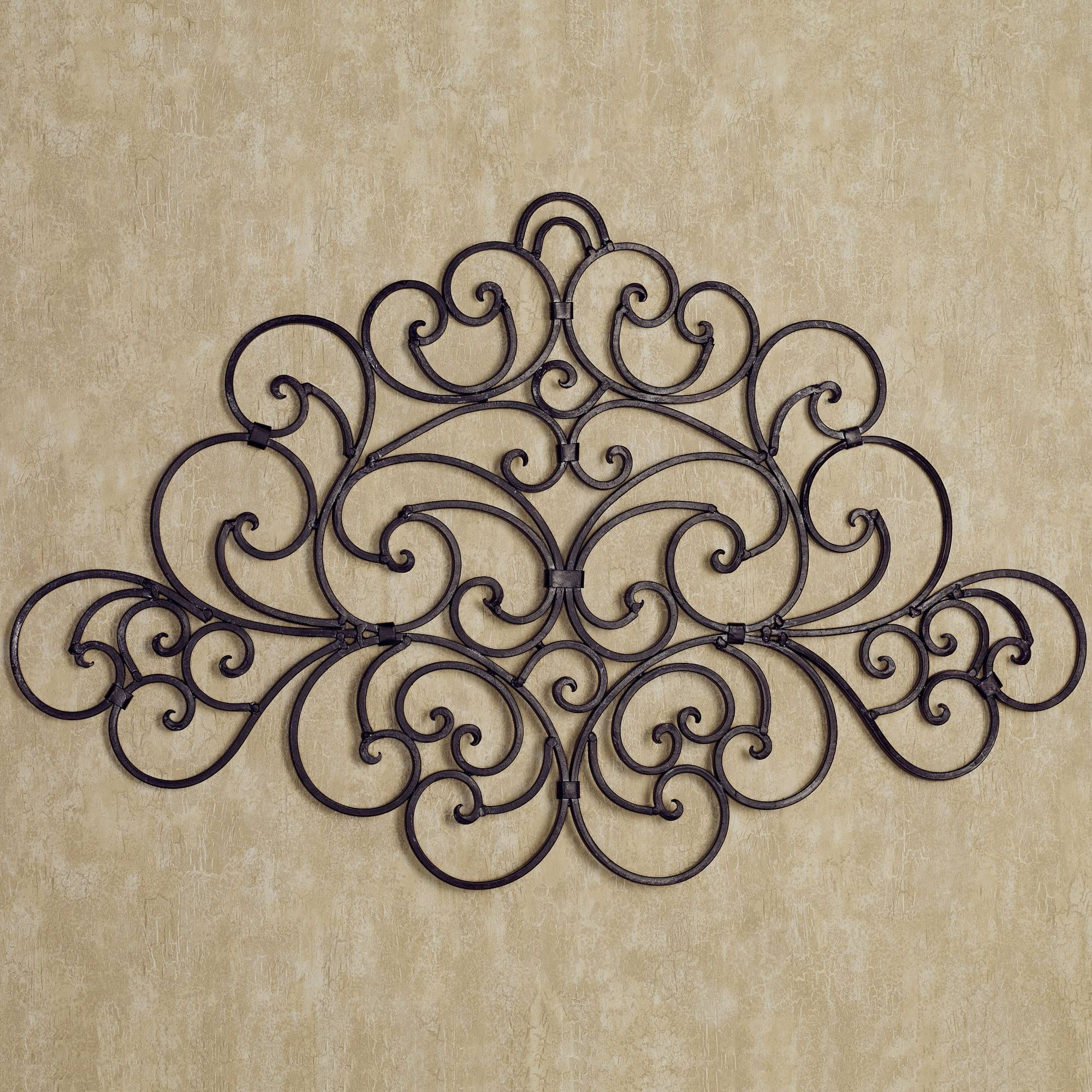 Black In Wrought Iron Wall Decor – Home Designing With Regard To Most Up To Date Tuscan Wrought Iron Wall Art (View 12 of 20)